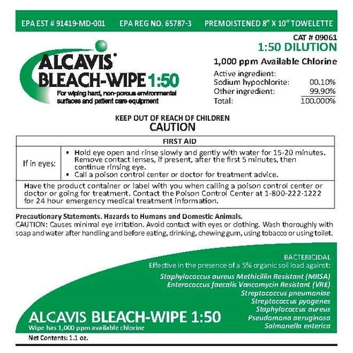 Alcavis Bleach Wipes 1:50