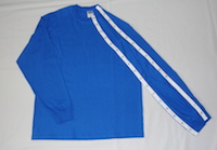 T-Shirt Style #1A Long Sleeve Dialysis Clothing with Snaps
